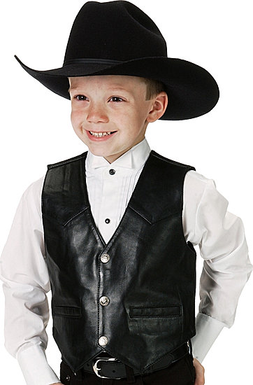 kids leather clothing