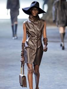 celebrities leather dresses