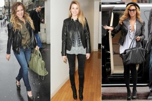 celebrity leather style