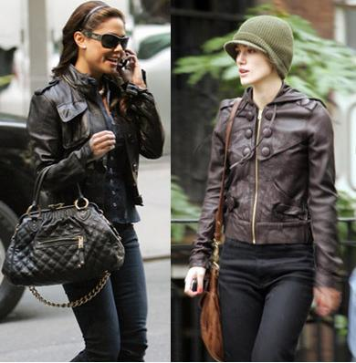 celebrity style leather jackets