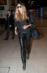 chic night black leather pant