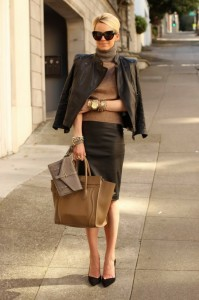leather office wear