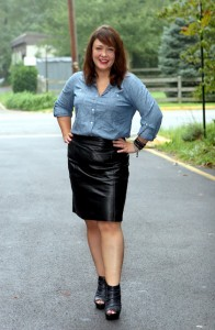 How to Beautify in Leather Skirts for Plus Size