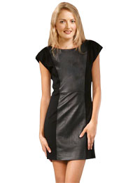 Cap Sleeve Dresses | Short Leather Dress :  leather mini dress short leather dress sleeve short dress cap sleeve dress