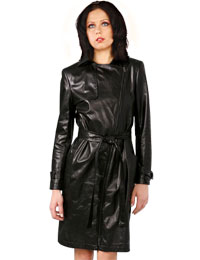 Stylish Belted Leather Dress Women Leather Dresses Online from leathericon.com