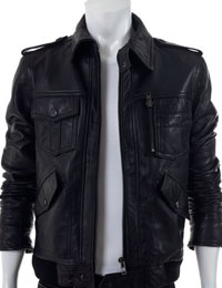 Trendy Looking Bomber Jacket :  bomber leather jacket fathers day collections fathers day ideas trendy fathers day jacket
