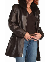 Womens Fur Collar Cuffs Leather Jacket :  womens leather jacket fur leather jackets womens fur collar jacket leather jackets for women