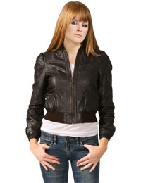 Smart Crinkled Leather Jacket