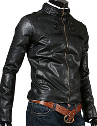 Slim Fit Leather Jacket for Men from leathericon.com
