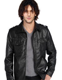 Stylish Front Pocket Fall Leather Jacket For Mens from leathericon.com