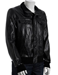 Youthful Ribbed Fall Leather Jackets from leathericon.com