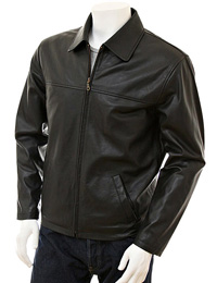 Shirt Collar Styled Leather Jacket | Thanksgiving Day Gifts from leathericon.com