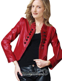 Fashionable Womens Short Leather Jacket Balmain Leather Jacket from leathericon.com