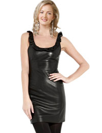 Gorgeous Christmas Leather Dress | Leather Dress for Christmas Party :  christmas party dress womens leather dress christmas leather dress leather dress for christmas party