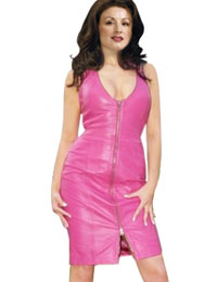 Appealing V Neckline Leather Dress for Easter :  easter leather dress v neckline leather dress leather dress