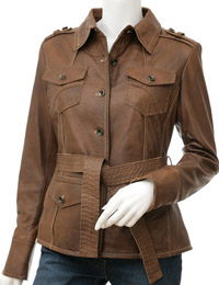 Front Tie-up Fall Leather Jacket | Womens Leather Jackets :  leather jacket for women fall leather jackets leather jackets for fall fall leather trends