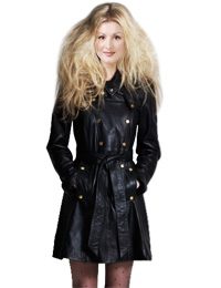Double Breasted Tie Up Winter Dress | Womens Winter Leather Dresses :  double breasted dress winter dresses dress for winter winter leather dress