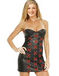 Sensuous Strapless Leather Dress | Mothers Day Special Leather Dress :  womens leather dress leather dress for women mothers day leather dress leather dress