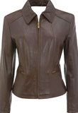 Buffalo trim motorcycle leather jacket