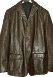 Simple and Smooth Leather Blazer for Men
