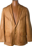 Superb Leather Blazer with Prominent Stitching | Mens Leather Blazer