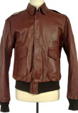Spectacular Leather Bomber with Stretchable Waist