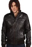 Breathtaking Pocketed Leather Jacket for Men