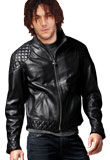Sexy Leather Jacket with Trendy Design