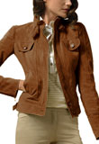 Anaida Leather Bomber