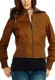 Jacket Style Women Leather Bomber 