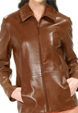 Casanova Leather Bomber