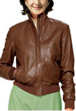 Performer Leather Bomber