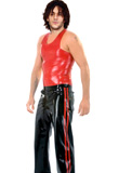 Cheap PVC Leather Vest And Track Pants for Men