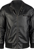 Buy Cheap PVC Jacket With Ribbed Cuffs | Mens PVC Leather Jacket 