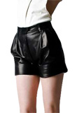 Fashionable PVC Leather Shorts for Girls