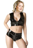 Stylish PVC Shorts And PVC Leather Vests for Women