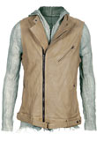 Celebrity Style Leather Vest | Mens Leather Vests
