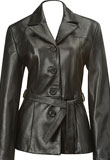 Classic Christmas Trench Coat | Leather Coats for Women