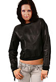 Fringed Leather Top Woman`s Leather Top