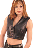 Shawl collar leather halter