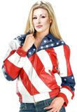 American Flag Leather Jacket | Independence Day Collection