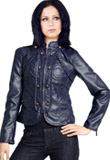 Military Style Leather Jacket | US Independence Day Collection