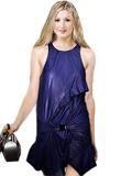 Designed Asymmetrical Leather Dress Online