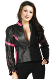 Stylishly Sporty Contrast Leather Jacket