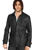 Fascinating Front Button Closure Jacket | Leather Jackets Online