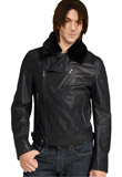 Modish Zipper Closure Leather Jacket