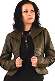 Short Pleated Leather Jacket | Leather Jacket |Pleated Leather Jacket