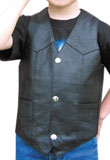 Buy Three Button Leather Vest for Kids
