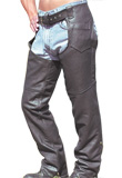 Pocket leather chap