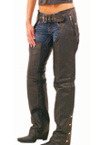 Quilted Womens Leather Chaps